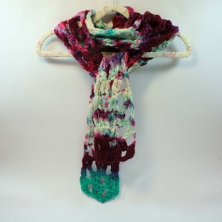Knitted Handwoven Scarf - Pure Wool 05