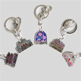 Traditional Metallic Key Ring Set - TOURIST SPOTS (9pcs per 1set)