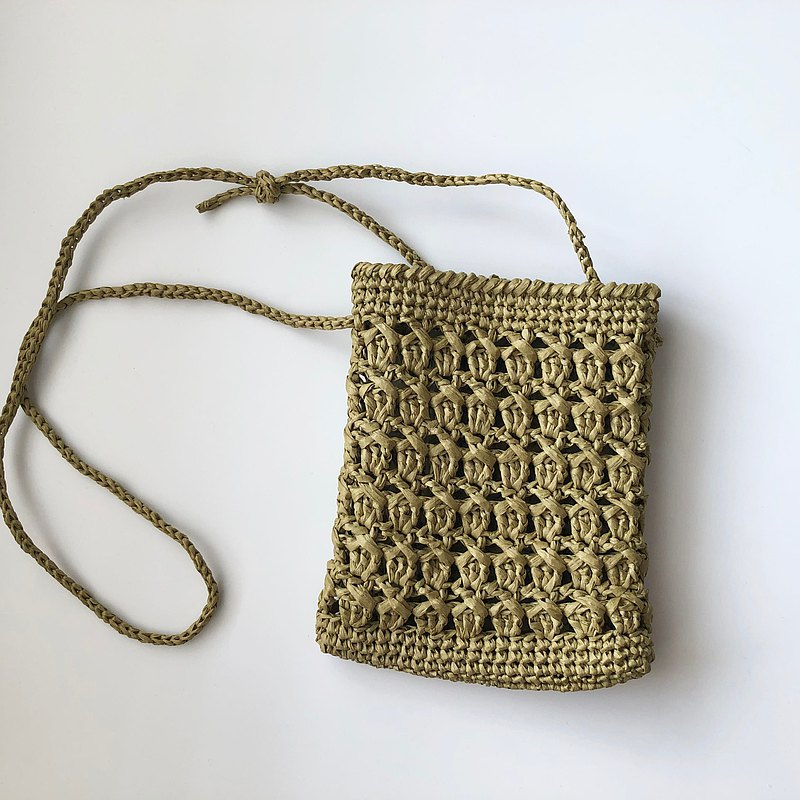 Candy portable back woven small bag, mobile phone change small shoulder bag finished product sale willow green