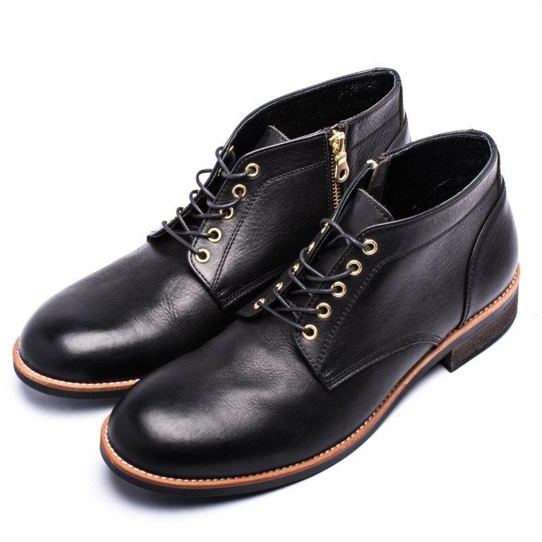ARGIS Japanese round head Chaka boots  22236 black - Japanese handmade - Designer  ARGIS Japan Handmade Leather Shoes  490d85db2cc