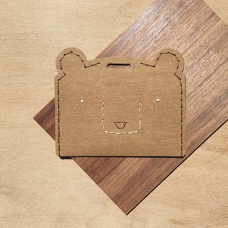 Brown bear ticket holder