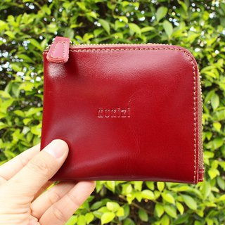 Wallet - Side / Leather Wallet / Leather Bag / Small Wallet - Burgundy