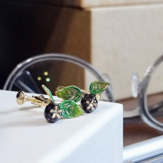 珐琅 series 珐琅 Galaxy Blueberry blueberry earrings pre-order