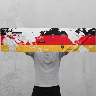 Make World map manufacturing sports towel (Germany)