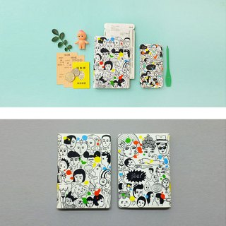 Doodle character series passport holder