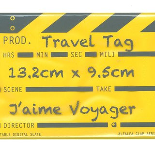 Director Clap Travel Tag - Yellow