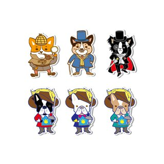 Waterproof sticker - Sherlock Holmes and the Three Musketeers