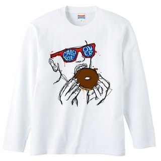 Long sleeve T shirt / Calorie over / Donut
