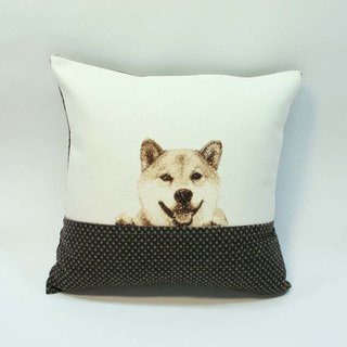 Embroidery small pillow 11- Shiba