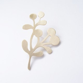 Tree, fruit 2 brass brooch