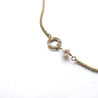 Italy's romantic -Brass necklace
