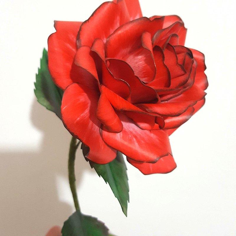 DIY手作包-3D紙藝玫瑰模型~~DIY Kits-Handmade Paper rose