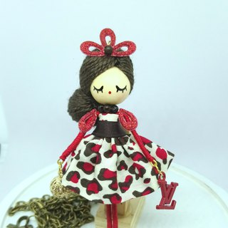 Doll necklace Louis Vuitton doll