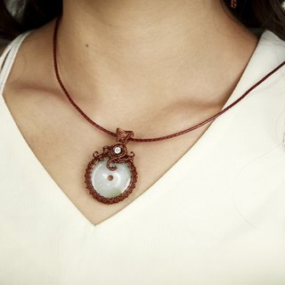 Da Vinci donut retro necklace