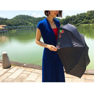 [Taiwan Wenchuang Rain's talk] sweet watermelon anti-UV tri-fold automatic opening umbrella