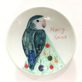 Sky at the top of the Christmas tree - [spot] hand-painted parrot dish - to exchange gifts