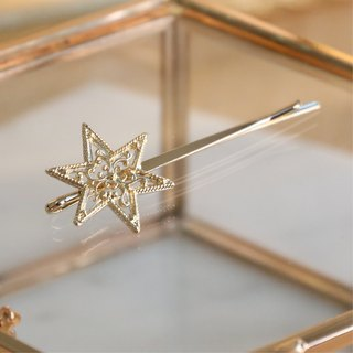 Japanese handmade jewelry - star hair clip