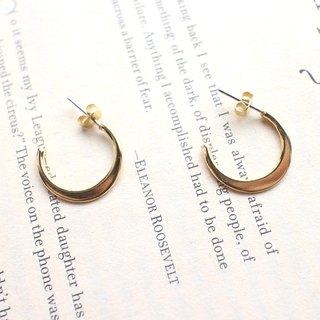 Half Moon - Brass Earrings - Can Be Changed