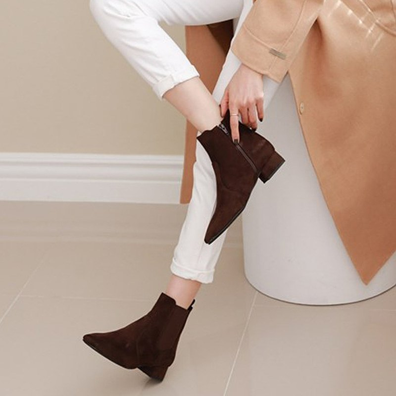 PRE-ORDER 韓國人手製 MACMOC Becky (Brown) 短靴