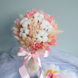 Wedding Collection - Cotton Star Dry rabbit flower bouquet (including bouquet box)