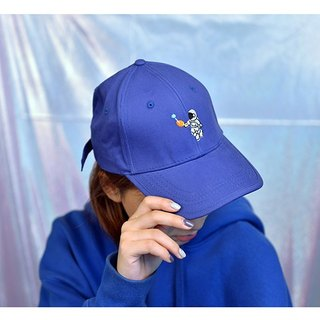 KIITOS I WANT TO universe theme original cotton embroidered baseball hat - astronaut models