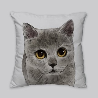 [I will love you forever] Classic blue cat pillow animal pillow / pillow / cushion