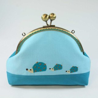 Mouth gold embroidery cosmetic 02-- hedgehog