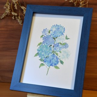 For Zhang Hanhan hand-painted watercolor hydrangea decorative painting