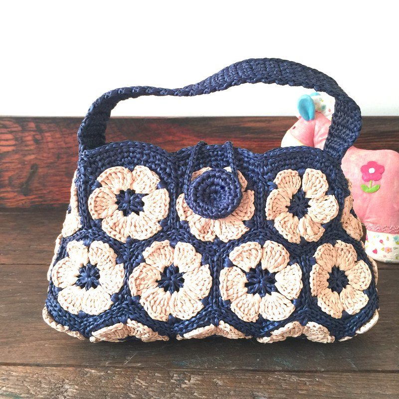 Flower World Weaving Walking Small Bag / Woven Bag / Paper Raffia