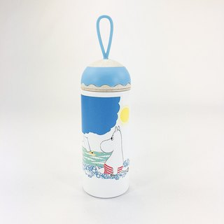 Moomin Moomin authorized - color to bring cute modeling thermos (blue and white)