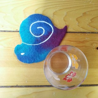 Wool felt super texture animal star coaster (snail) Taiwan manufacturing limited manual