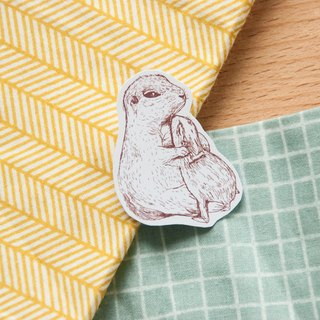 【Animal Series】 # 6 monochrome otter color paste stickers 5