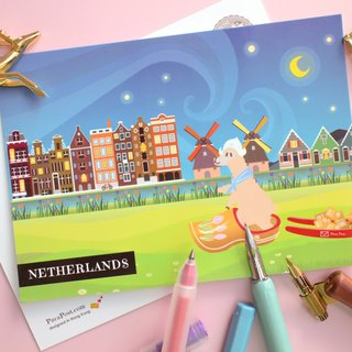 Postcard - Alpaca travel in Netherlands