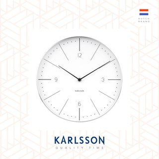 Karlsson, Wall clock Normann numbers White, brushed case