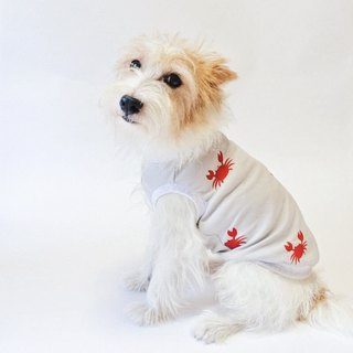 Cool-feel Materials Dog Shirt / Crab