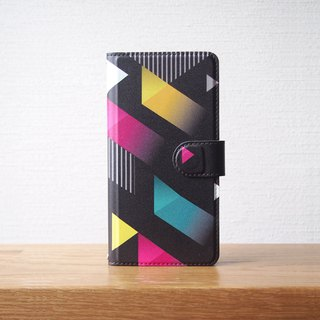 Notebook type phone case - Vivid Triangle -