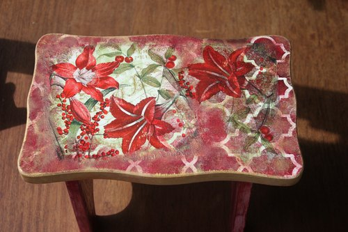 {} Butterfly Mania shoes chair / stool Butterfly