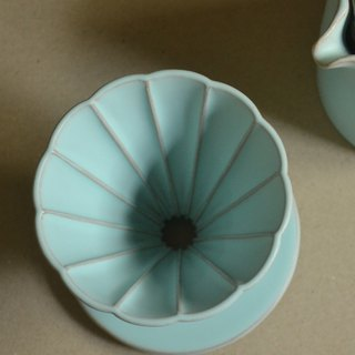 Hakka marine blue daisy long rib filter cup 01 (no handle)