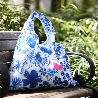 Japanese Prairie Dog Design Bag - Blue and White Porcelain