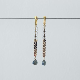 Sophisticated Chevron Chain Earrings