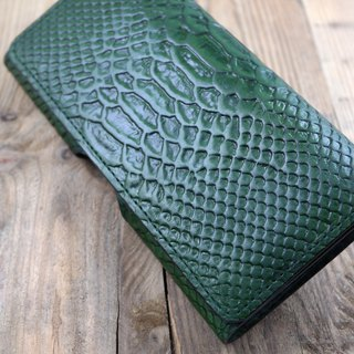 Api handmade ~ mobile phone sets ~ horizontal waist hanging ~ python skin green ~ (iphone8 plus / XR / X Max)