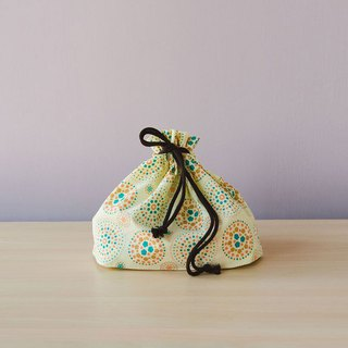 Traveling Purse-String Bag-M / Firework / Lemonade