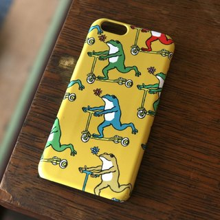 iPhone case frogs yellow