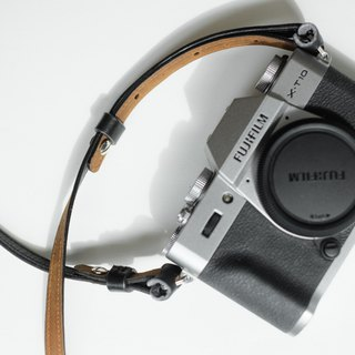 Two-Tone leather camera strap