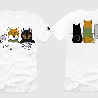 Shiba Dog University - Back to School Day Limited T-shirt - Bai Wenchuang Design Shiba 3 Brothers