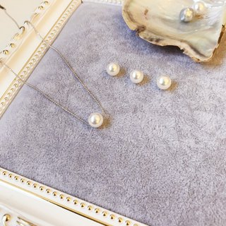 AKOYA Japanese Pearl Sterling silver necklace