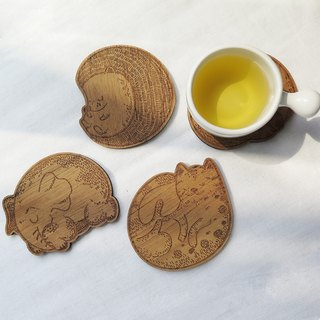 Wooden Coasters Animal Collection | Set