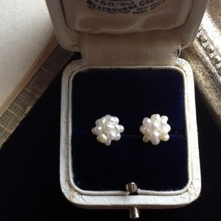 14kgf Small freshwater Keshi pearl collapse earrings OR ear clip