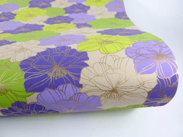 Shizen 漸層羅曼紫花 手工包裝紙
