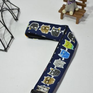 Mr. Cats (dark blue) decompression strap camera straps ukulele Camera Strap ~ Bubu Ying surplus ~